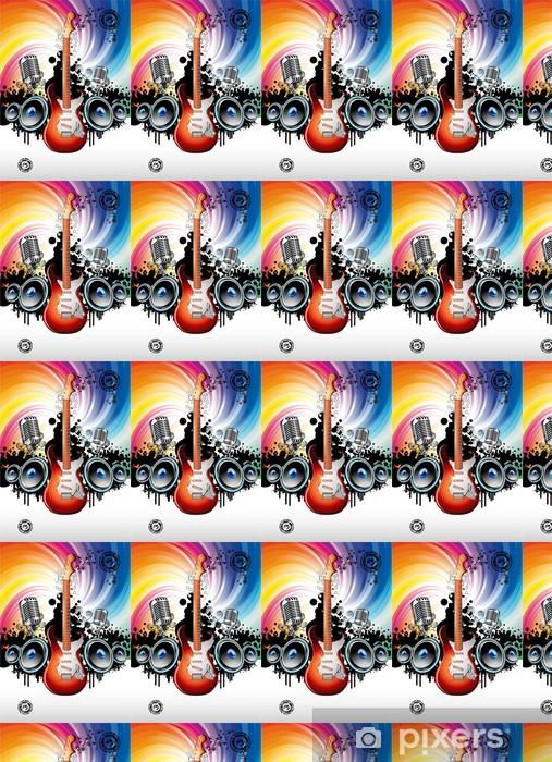 Electric Guitar Music Background Vinyl custom-made wallpaper - Themes