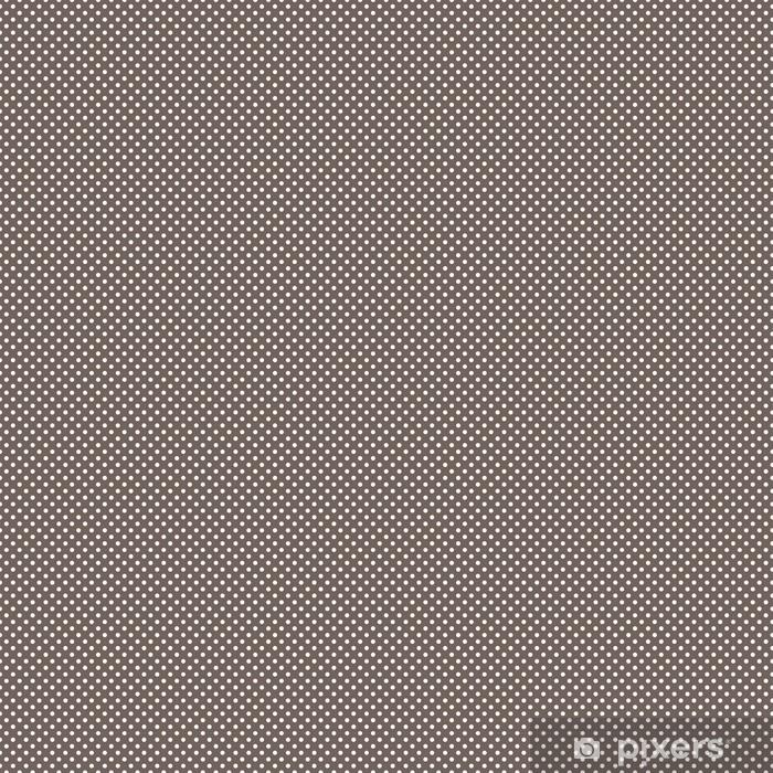Tapeta na wymiar winylowa Polka dots tekstury bez szwu wektor wzór na brązowym tle - Tematy