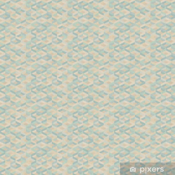 Vinyl behang, op maat gemaakt Naadloze retro geometrisch patroon op papier textuur. - Kunst en Creatie