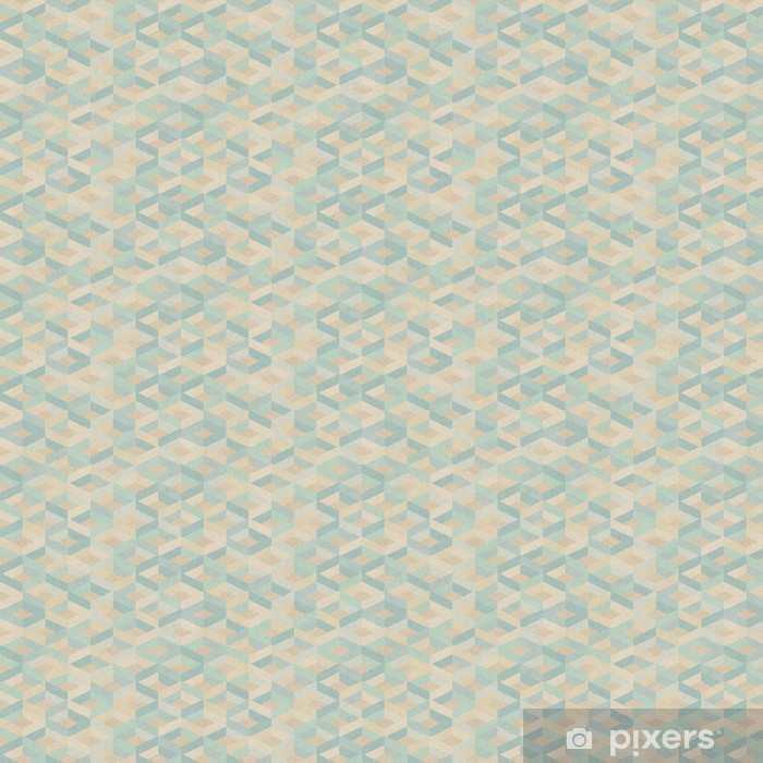 Seamless retro geometric pattern on paper texture. Vinyl custom-made wallpaper - Art and Creation