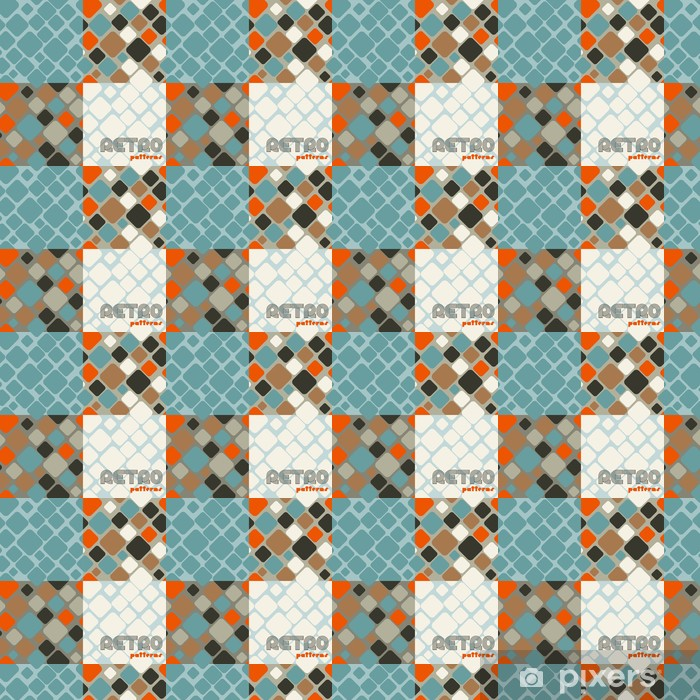 Set of four abstract retro seamless patterns. Vinyl custom-made wallpaper - Art and Creation