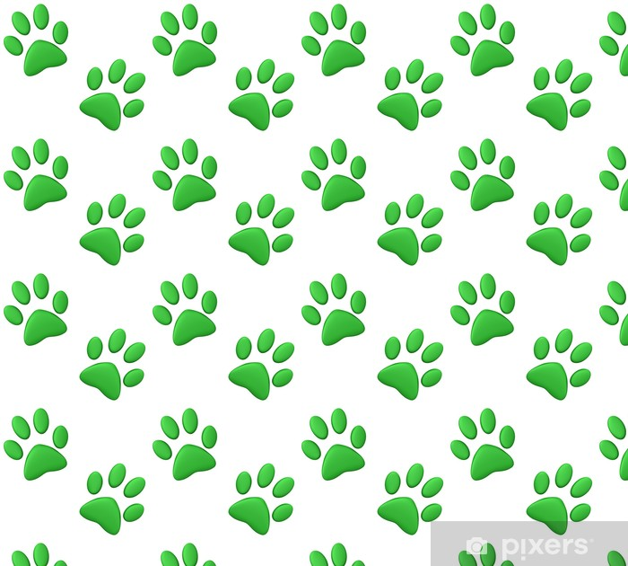 Green paw print Wallpaper • Pixers