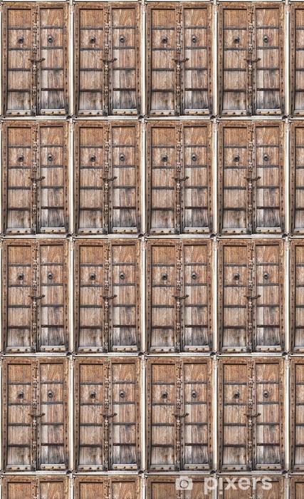 Vinylová tapeta na míru Staré dřevěné dveře - Asie