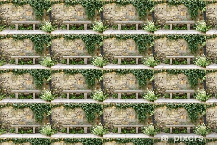 Papier peint vinyle sur mesure Banc dans le jardin formel - Propriétés privées