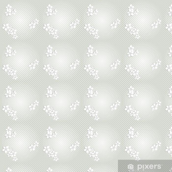 Floral background with white flowers- Sfondo con fiori bianchi Vinyl custom-made wallpaper - Celebrations