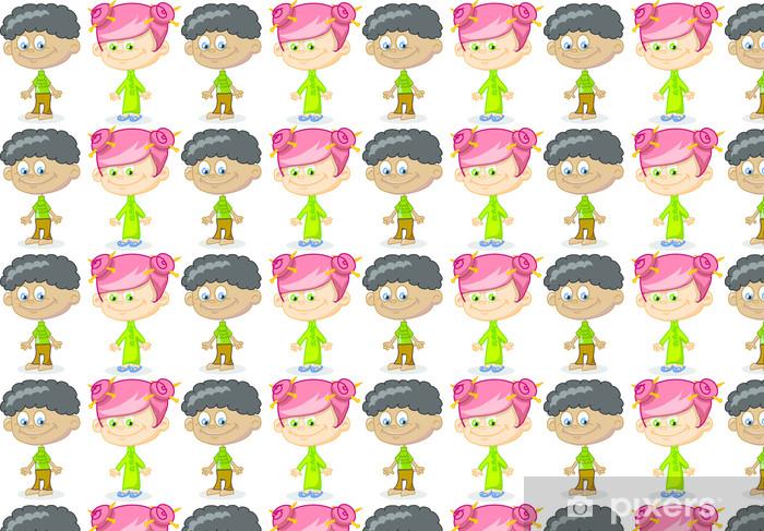 Набор из мультфильма милые дети Vinyl custom-made wallpaper - Children