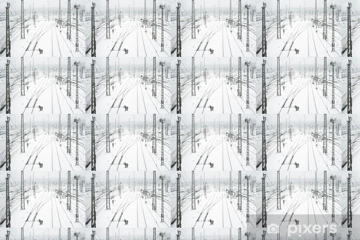 Papier peint vinyle sur mesure La gare de Munich dans la neige - Situations