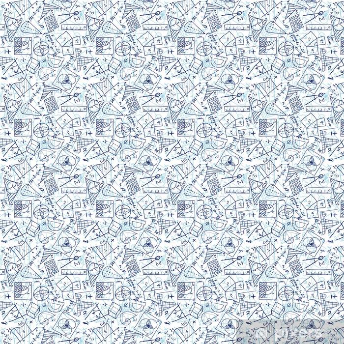 Mathematics seamless pattern Vinyl custom-made wallpaper - Applied and Fundamental Sciences