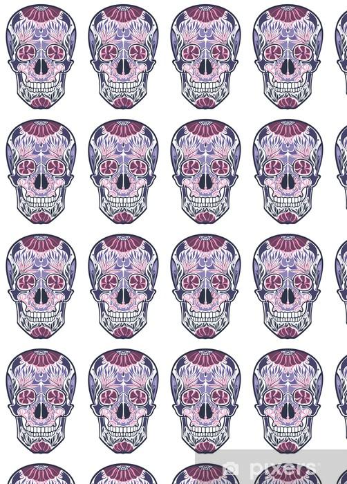 Tapeta na wymiar winylowa Kwiaty ozdobne czaszki - Sztuka i twórczość