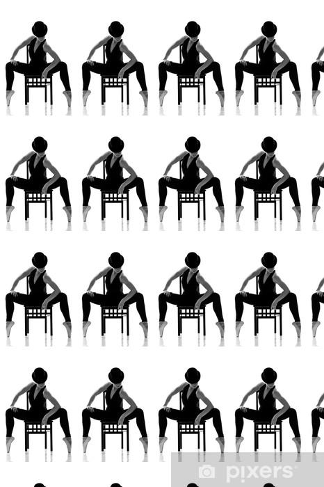 Vinylová tapeta na míru Hezká mladá balerína sedí na židli. Izolovaný - Balet