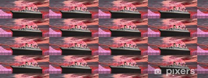 Papel pintado estándar a medida Barco Titanic por la puesta del sol - procesamiento 3D - Temas