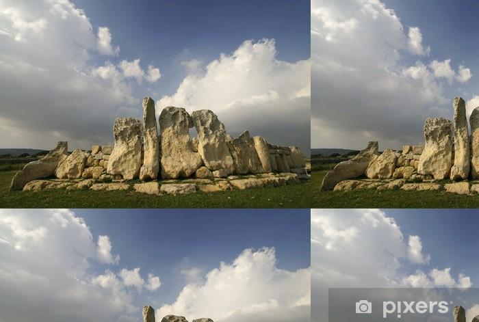 Vinyltapet Megalitiske templer av Hagar Qim, et UNESCO-sted på Malta - Europa