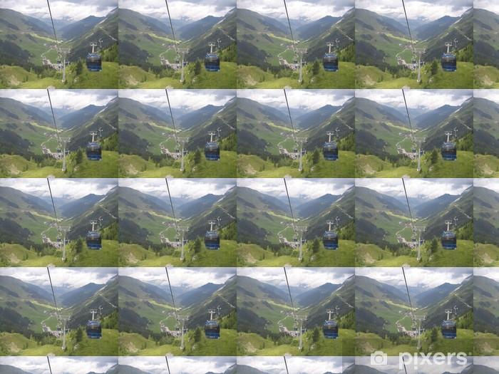 Tapeta na wymiar winylowa Mayrhofen góry - Sporty zimowe
