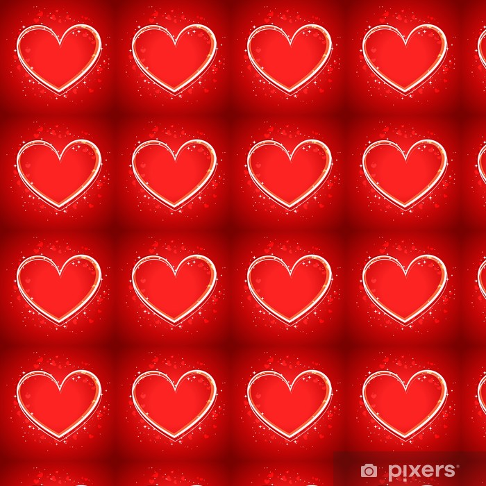 Papier peint vinyle sur mesure Heart Background - Fêtes internationales