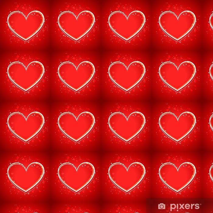 Vinyltapete nach Maß Background of Heart - Internationale Feste