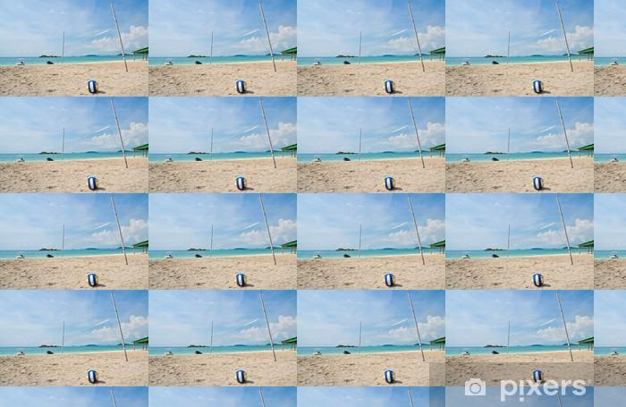 Beach volleyball on tropical sea beach Vinyl custom-made wallpaper - Volleyball