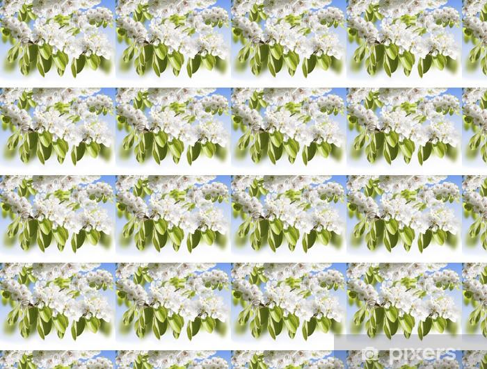 Papier peint vinyle sur mesure Fleur de poire - Saisons