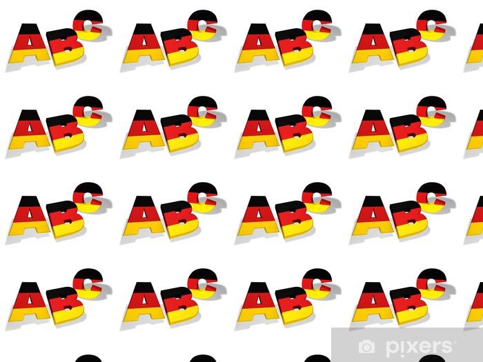 Tapeta na wymiar winylowa Abc Szkoła Concept niemiecki - Naklejki na ścianę