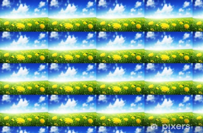 Tapeta na wymiar winylowa Pole wiosennych kwiatów - Kwiaty