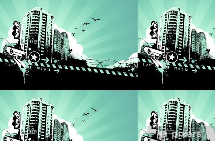 Vinylová Tapeta Grunge městské pozadí - Pozadí
