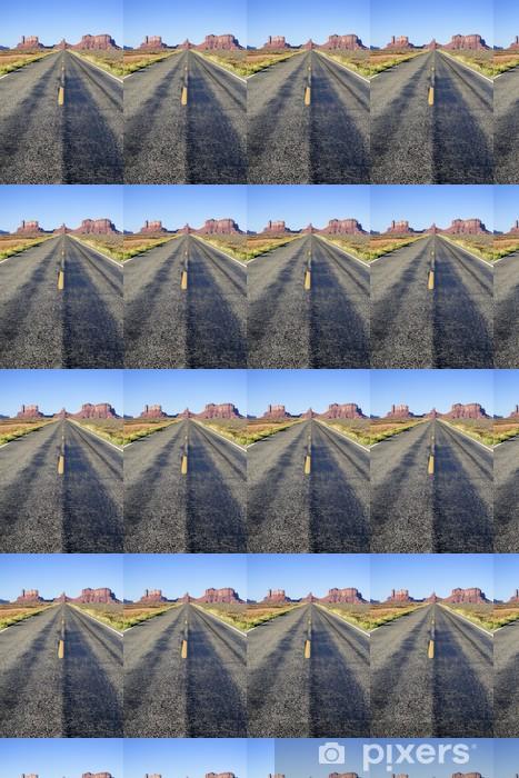 Papier peint vinyle sur mesure Long Road célèbre pour la Monument Valley - Amérique