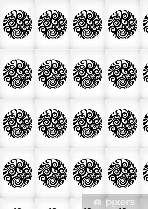 Papier peint vinyle sur mesure Motif tribal japonais - Abstrait