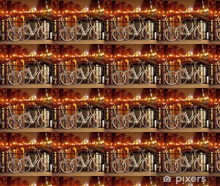 Papier peint vinyle sur mesure Vélos à Amsterdam - Vélos