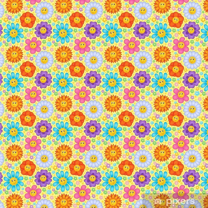 Tapeta na wymiar winylowa Bezszwowe tło kwiat temat 1 - Tła
