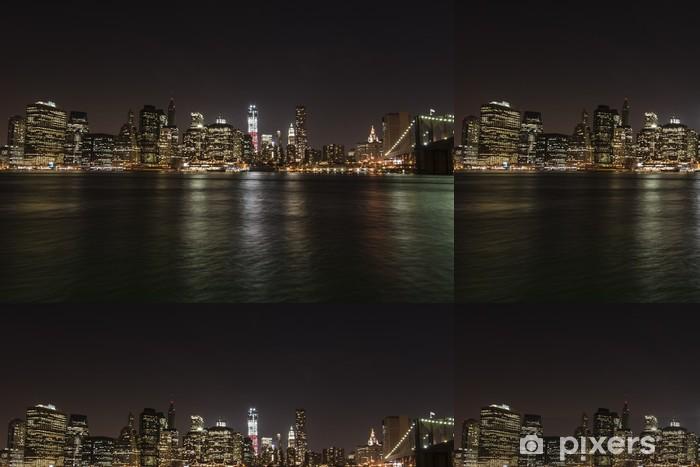 Papier peint à motifs vinyle New York Manhattan - Brooklyn bridge - Amérique