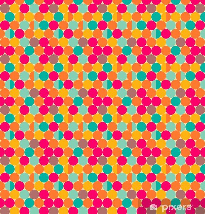 Zelfklevend behang, op maat gemaakt Retro abstract naadloze patroon met cirkels - Achtergrond