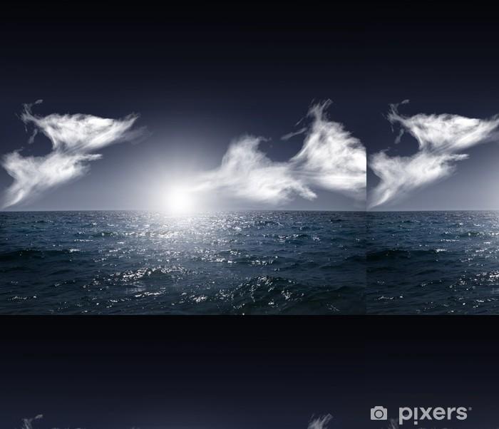Vinylová Tapeta Noční oceánu. přírodní pozadí - Nebe