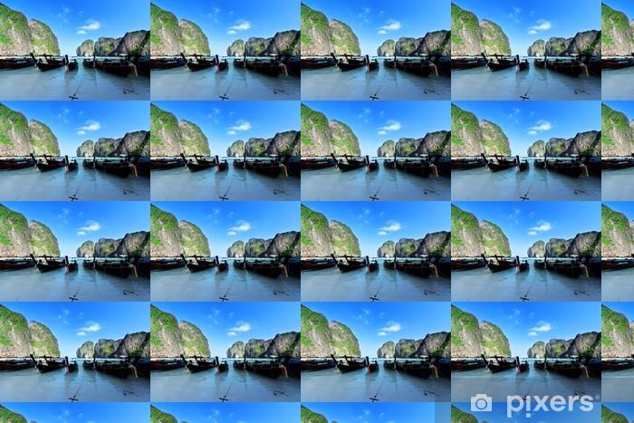 Vinylová tapeta na míru Čluny na ostrov Maya bay Phi Phi Leh, Thajsko - Voda