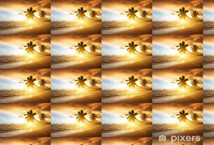 Vinylová tapeta na míru Západ slunce na pláži Karibského moře - Voda