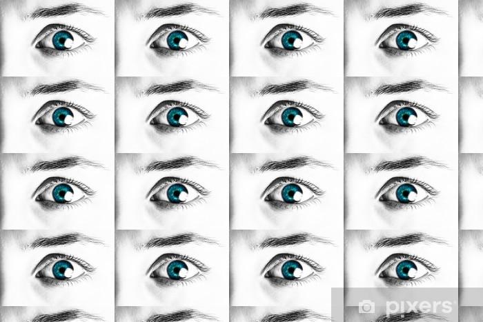 Tapeta na wymiar winylowa Close-up portret pięknej kobiety oka - Tematy
