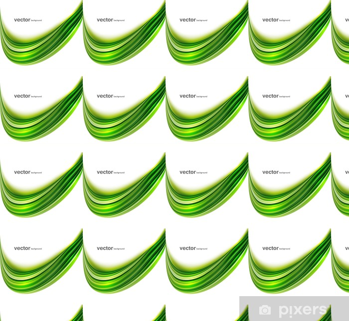 Papier peint vinyle sur mesure Abstrait vert clair technologie coloré Pentecôte vague de fond - Signes et symboles