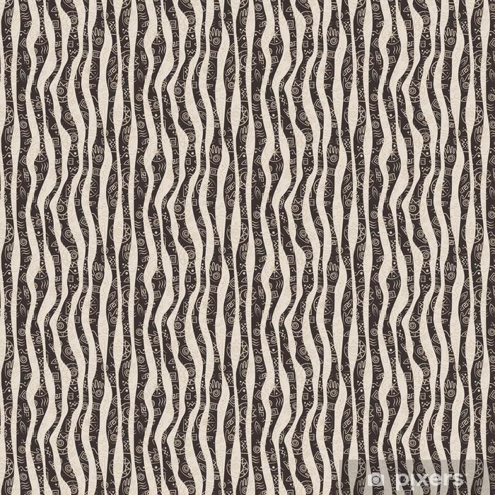 Tapete Tribal art. Afrikanischen Stil nahtlose Muster - nach Maß