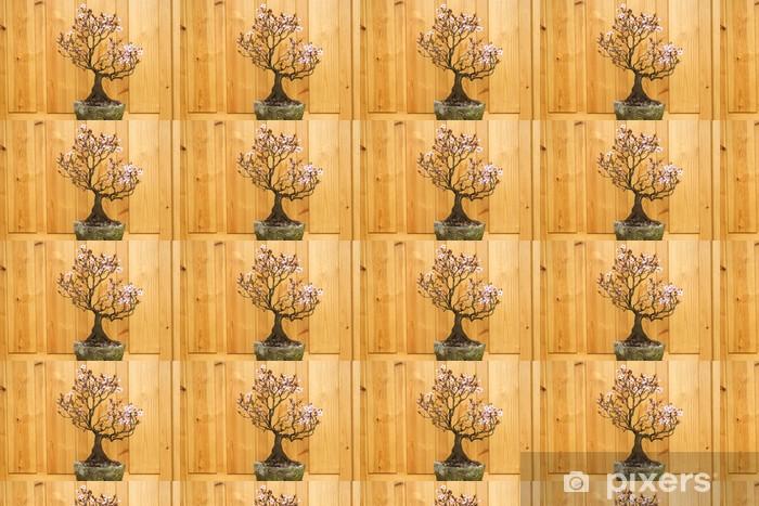 Tapeta na wymiar winylowa Bonsai doniczkowy kwiat śliwy - Dom i ogród