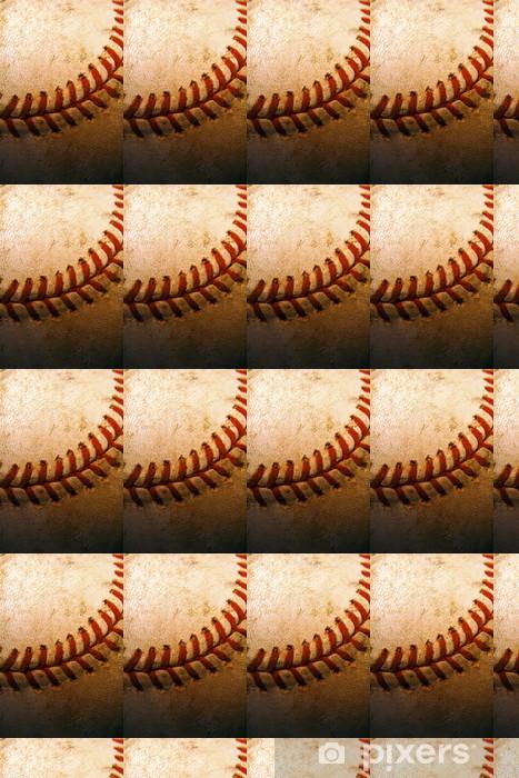 Papier peint vinyle sur mesure Gros plan d'une vieille, utilisée baseball - Sports d'extérieur