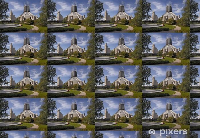 Vinyltapete nach Maß Kathedrale und Garten - Öffentliche Gebäude