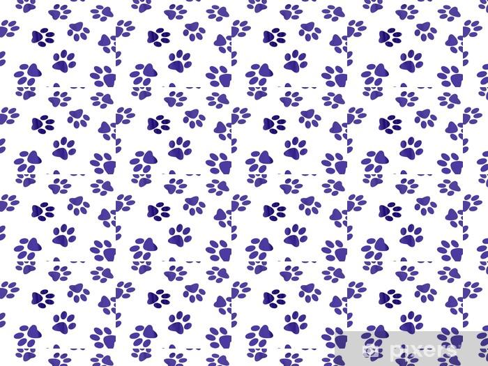 Dog tracks Vinyl custom-made wallpaper - Abstract