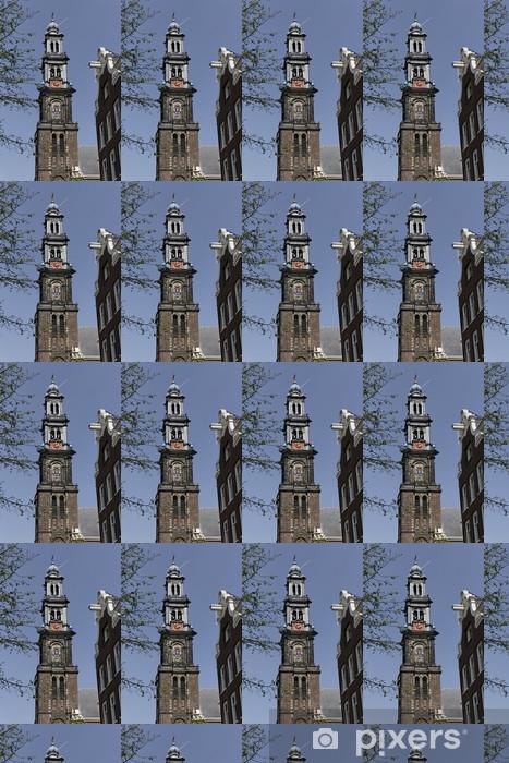 Tapeta na wymiar winylowa Amsterdam, Westerkerk - Zachodnia Kościół - Miasta europejskie