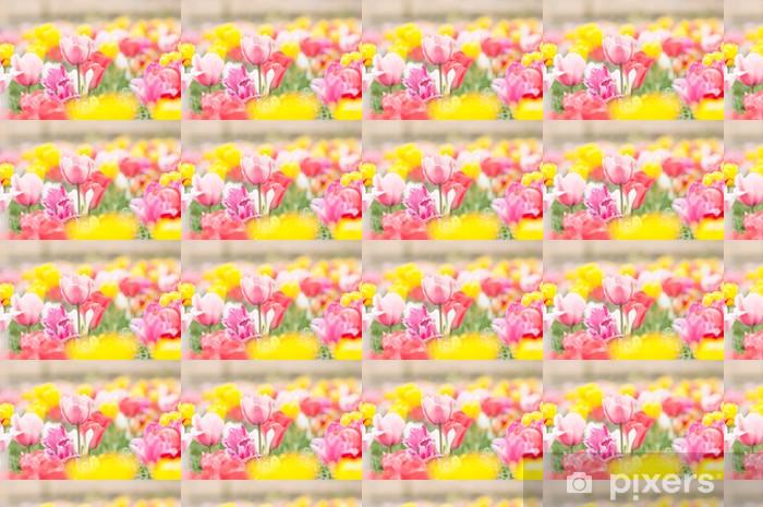 Tapeta na wymiar winylowa Kolorowe pola tulipanów - Tematy