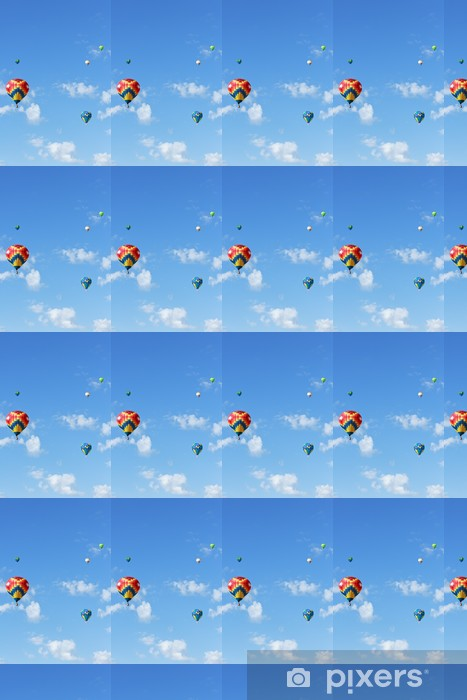 Tapeta na wymiar winylowa Balonów na ogrzane powietrze - Transport powietrzny
