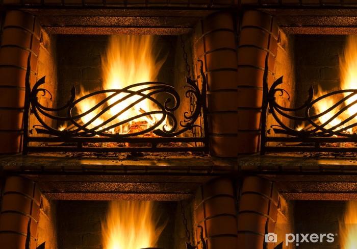 Papel de Parede em Vinil Fireplace - Construções Privadas