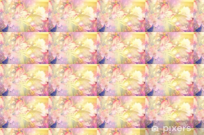 Tapeta na wymiar winylowa Abstrakcyjna kwiat. kwiaty wykonane z kolorowych filtrów - Style