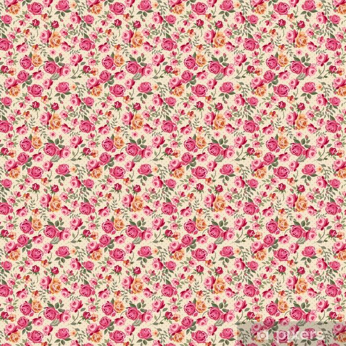 Zelfklevend behang, op maat gemaakt Klassieke vector rozen naadloze achtergrond -