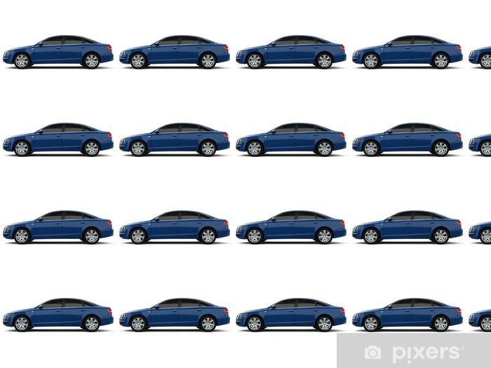 Tapeta na wymiar winylowa Niebieski samochód klasy biznes - Tematy