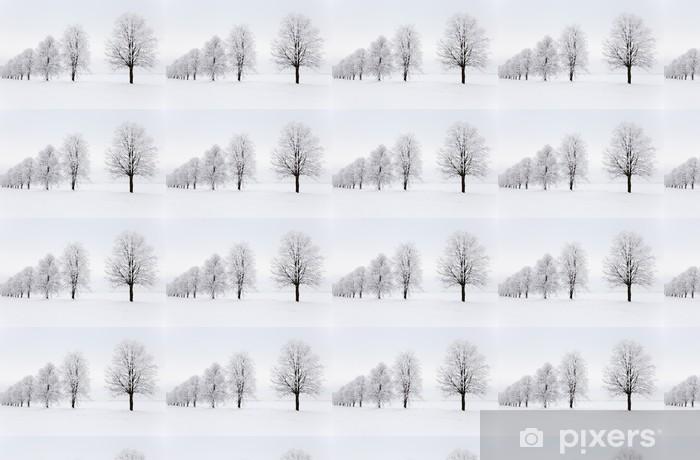 Papier peint vinyle sur mesure Saison d'hiver - Forêt