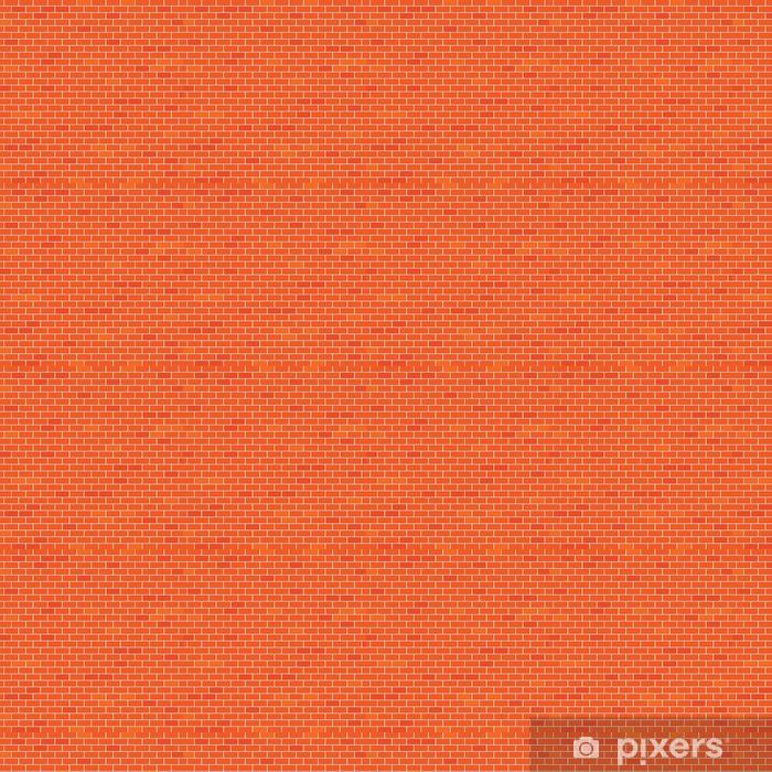 Papier peint vinyle sur mesure Mur brique rouge - Industrie lourde