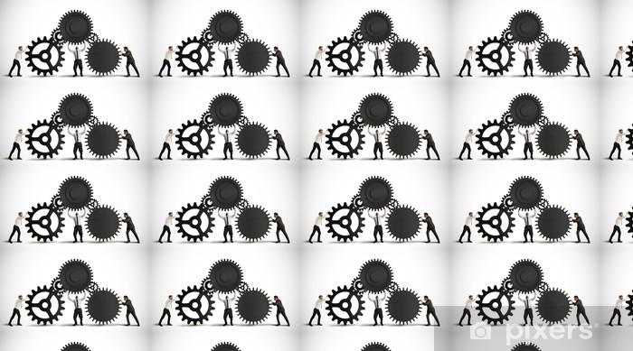 Vinylová tapeta na míru Souhra - Skupiny a dav